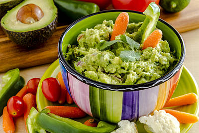 Tex-mex Photograph - Guacamole And Veggies by Teri Virbickis