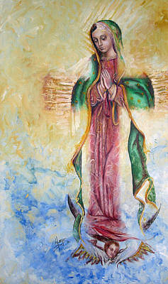 Figurative Painting - Guadalupana by Karina Llergo