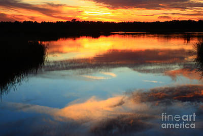 Guana River Sunset Print by John F Tsumas