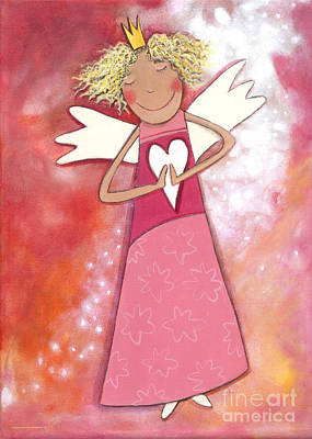 Crafts For Kids Painting - Guardian Angel For Girls by Sonja Mengkowski