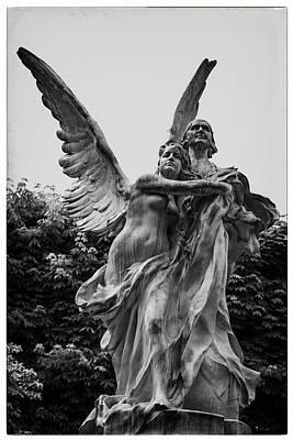 Paris Surreal Parks Photograph - Guardian Angel In Paris by Georgia Fowler