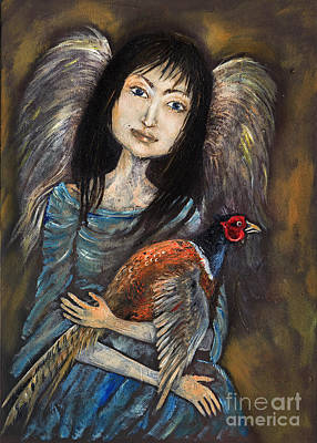 Guardian Angel Of Pheasants Original by Angel  Tarantella