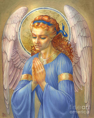 Guardian Angel Print by Zorina Baldescu