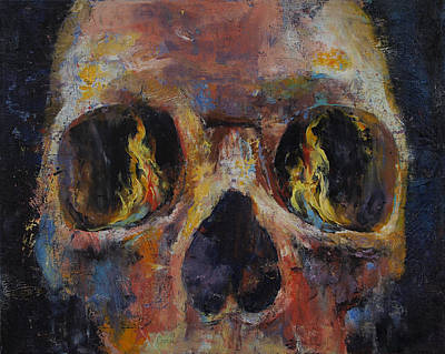 Zombies Painting - Guardian by Michael Creese