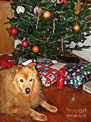 Guardian Of The Christmas Tree Print by Sarah Loft