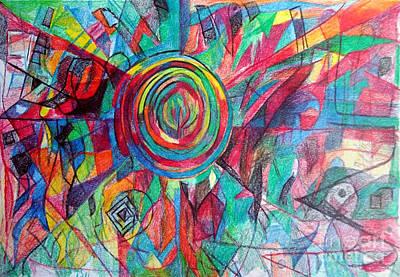 Creativity Drawing - Guardian Of The Faith by David Baruch Wolk