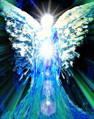 Blue Healer Painting - Guardian Of The Light by Alma Yamazaki