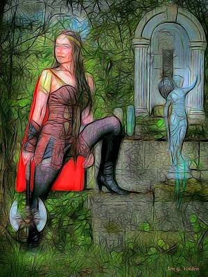 Warrior Goddess Photograph - Guardian Of The Shirne by Jon Volden