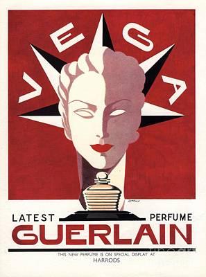 Guerlain 1940s Uk Guerlain   Vega Art Print by The Advertising Archives