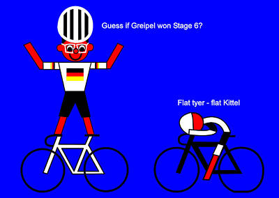 Digital Art - Guess If Greipel Won Stage 6 by Asbjorn Lonvig