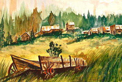 Old Wooden Wagon Painting - Guess We'll Settle Here IIi by Frank SantAgata