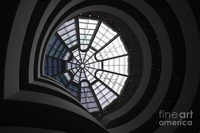 Guggenheim Interior Print by David Bearden