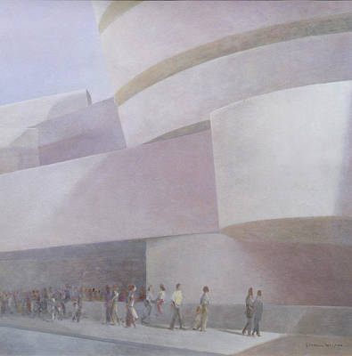 5th Painting - Guggenheim Museum New York 2004 by Lincoln Seligman