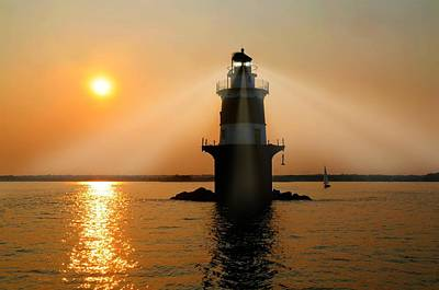 Ledge Photograph - Guiding Light by Diana Angstadt