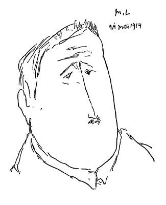 Belle Epoque Drawing - Guillaume Apollinaire (1880-1918) by Granger