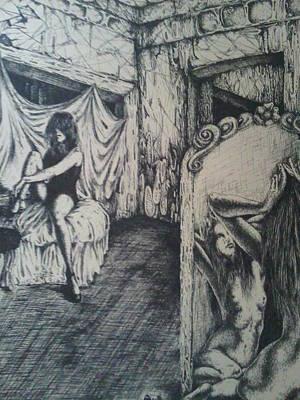 Drawing - Guilty by Robert Art