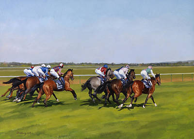 Sports Painting - Guineas by Emma Kennaway