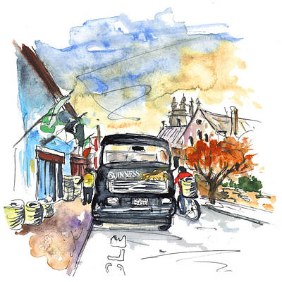 Travel Sketch Drawing - Guinness Delivery In Howth by Miki De Goodaboom