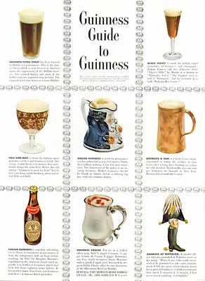 Guinness Guide To Guinness Print by Georgia Fowler