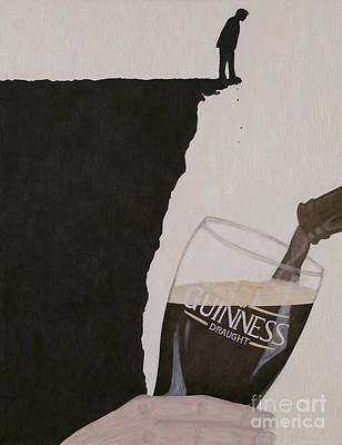 Beer Oil Painting - Guinness Is Good For You by Philip G