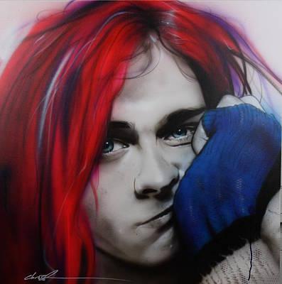 Kurt Cobain Painting - Kurt Cobain - ' Guitar Demolition ' by Christian Chapman Art