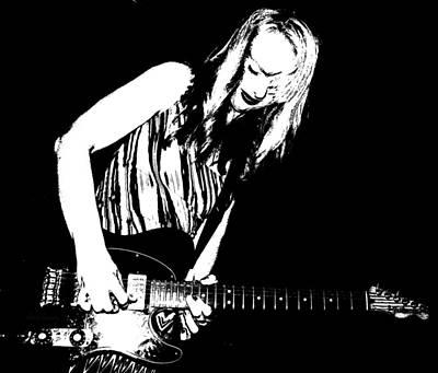 Fender Guitar Girl  Print by Chris Berry