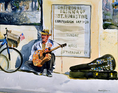 Da192 Guitar Man By Daniel Adams Print by Daniel  Adams