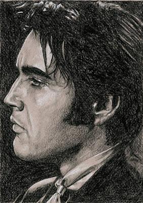 Elvis Presley Drawing - Guitar Man by Rob De Vries