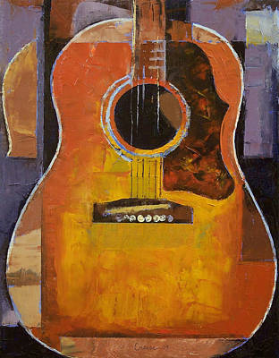 Gitarre Painting - Guitar by Michael Creese