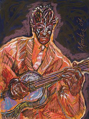 Guitar Player Print by Deryl Daniel Mackie