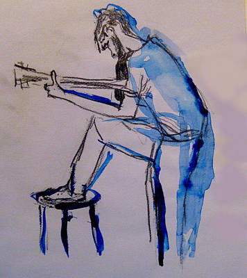James Gallagher Painting - Guitar Player by James Gallagher
