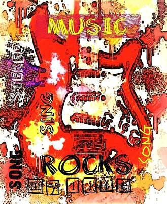 Guitar Rock Original by Maria Ortiz