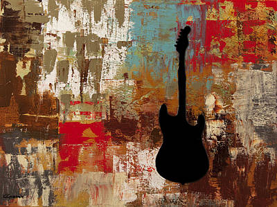 Trombone Painting - Guitar Solo by Carmen Guedez