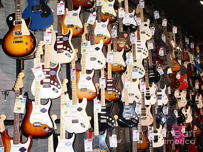 Telfer Photograph - Guitar Wall Of Fame by John Telfer