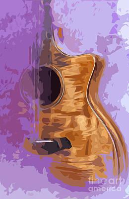 Guitarra Acustica 1 Print by Pablo Franchi