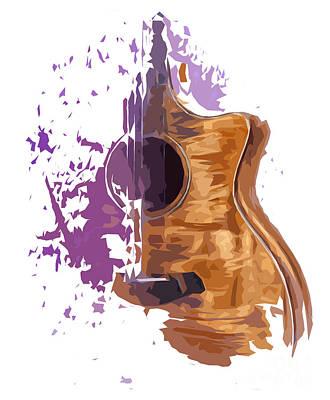 Guitarra Acustica 4 Print by Pablo Franchi