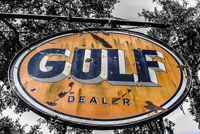 Gulf Dealer Sign Print by Steven  Taylor
