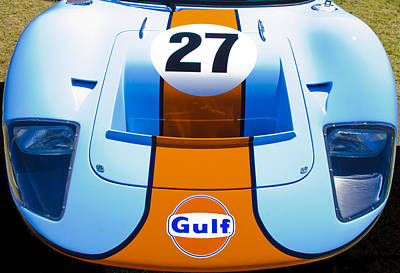 Gulf Ford Gt40 Print by motography aka Phil Clark