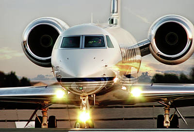 Jets Photograph - Gulfstream G550 by James David Phenicie