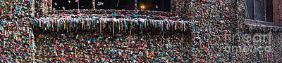 Gum Wall Panorama Print by Sean Griffin