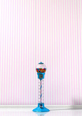 Gumball Machine In A Candy Store Print by Allan Swart