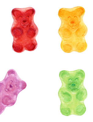 Green Beans Painting - Gummy Bears by Nathalie Amber