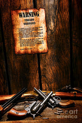 Law Enforcement Photograph - Gun Control by Olivier Le Queinec