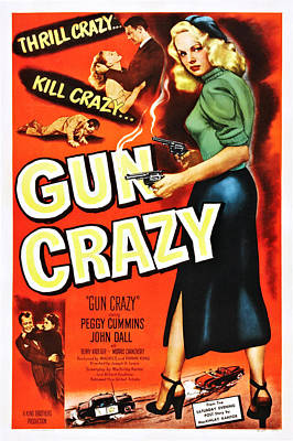 Gun Crazy, Peggy Cummins, John Dall Print by Everett