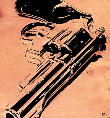 Noir Drawing - Gun Number 6 by Giuseppe Cristiano