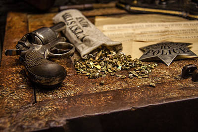 Police Art Photograph - Guns And Gold by Mike Burgquist