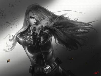 Widow Digital Art - Gunslinger by Steve Goad