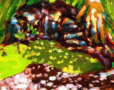 Gussie's Green Algae Pond Original by Richard Rochkovsky