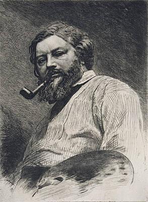 Gustave Courbet Print by Etienne Gabriel Bocourt