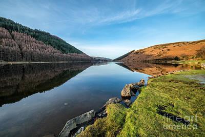 Canoe Photograph - Gwydyr Forest Lake by Adrian Evans